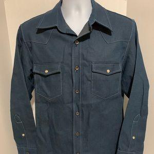 Rare VTG inspired Freedman Blue Denim Shirt Sz L